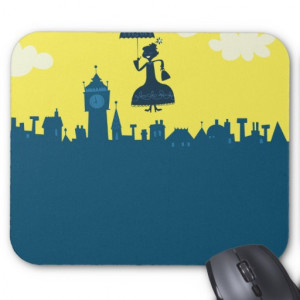 Mary Poppins in Sky Mouse Pad