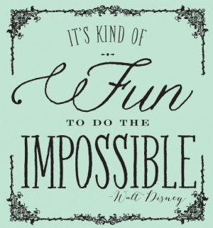 The Impossible…