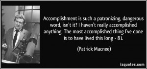More Patrick Macnee Quotes
