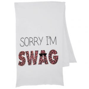 Sorry I'm Swag - Funny Quote, Pink Leopard Scarves