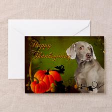 Weimaraner Thanksgiving Greeting Cards