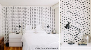 Use Cats,Cats,Cats Stencil from Cutting Edge Stencils in your bedroom ...