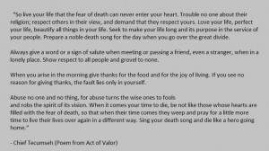 (Poem from Act of Valor): Tecumseh Poem, Movies, Words Art, Quotes ...