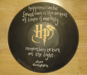 geek nerd home decor harry potter vinyl record quotes