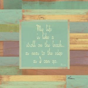 Beaches Quotes II Fine Art Print: Poster
