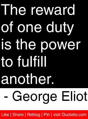 is the power to fulfill another George Eliot quotes quotations