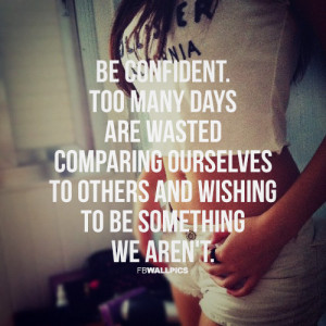 Girly Quotes Wallpaper Be confident girly quote