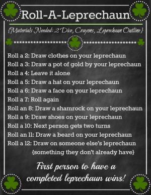 Roll-A-Leprechaun (Fun Family Game & Printable)