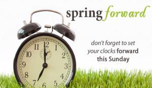 Daylight Savings Time Begins This Sunday