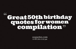 Top 21 50th birthday quotes for women