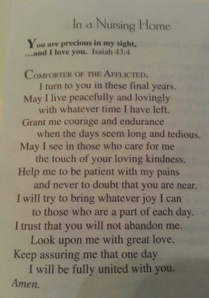 Prayer for Nursing Home Residents
