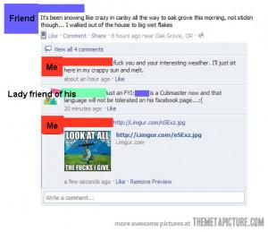 Funny photos funny Facebook conversation swearing