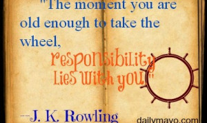 jk rowling quotes responsibility