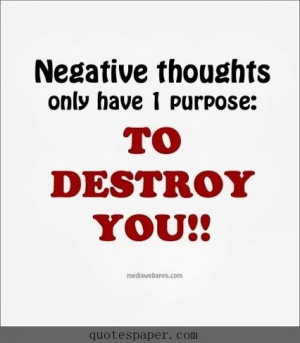 No negative thoughts quotes about life