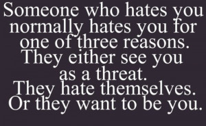 Hate Haters Attitude Quote...
