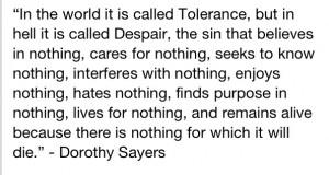 Dorothy Sayers quote
