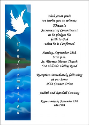 catholic confirmation invitation wording