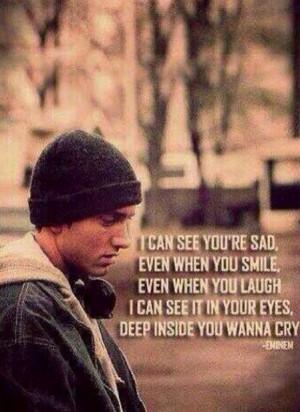 Mockingbird - Eminem - I can see you're sad, even when you smile, even ...