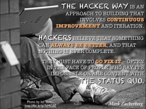 The Hacker Way is an approach to building that involves continuous ...