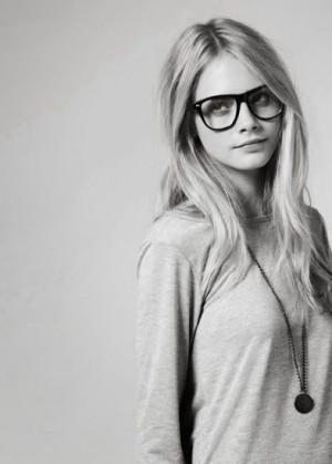 nerd #hot #cara #delevigne #glasses #sexy #model