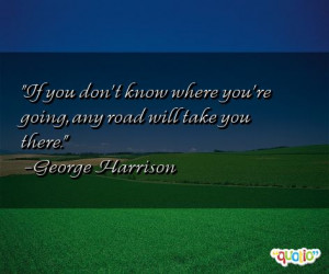 If you don't know where you're going , any road will take you there.