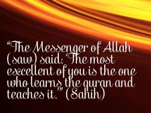the reward for memorizing the quran is immense