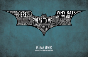 Batman Begins Typography Poster