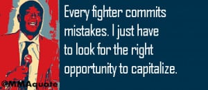 Any mistake you make inside the UFC Octagon against Anderson Silva, he ...