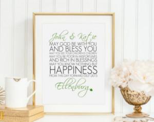 ... Irish Wedding, Irish Printable, Irish Wedding Gift, Irish Anniversary