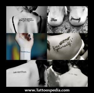 Word Quotes Tattoos