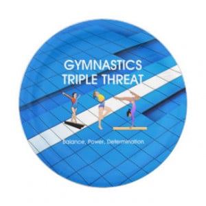 TOP Gymnastics Triple Threat 7 Inch Paper Plate