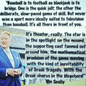 Vin Scully - Baseball vs. Football - Mos Angeles Times 1976