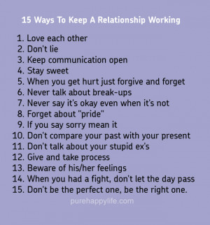 Relationship Quote: 15 Ways To Keep A Relationship Working…
