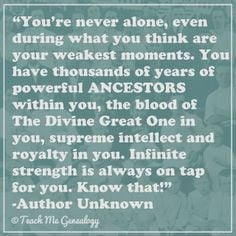 Beautiful poem about the power of our ANCESTORS. (Teach Me Genealogy)