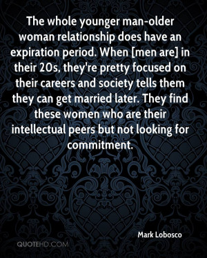 The whole younger man-older woman relationship does have an expiration ...