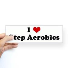 Love Step Aerobics Bumper Bumper Sticker