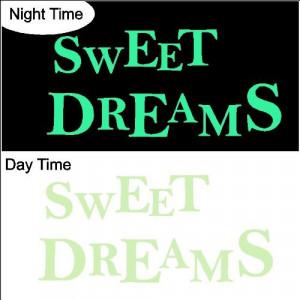 Glow in the Dark Sweet Dreams.Nursery Wall Quotes Words Sayings