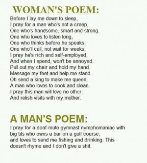 Battle of the Sexes Man/Woman poems