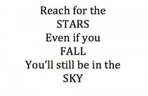 Reach for the stars quote