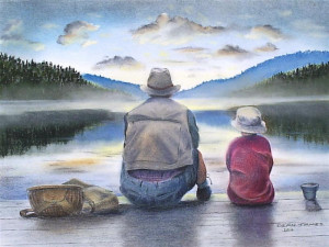 Father And Son Fishing Dixiedean Deviantart