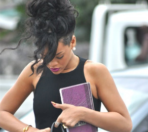 Rihanna stays strong at Grandma Dolly's funeral, we send her hugs