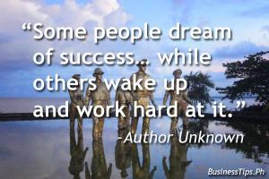 Hard work for success