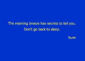 Morning Breeze - Rumi