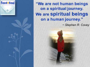Selfdiscovery quotes: We are not human beings on a spiritual journey ...