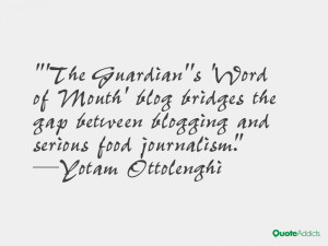 The Guardian''s 'Word of Mouth' blog bridges the gap between blogging ...