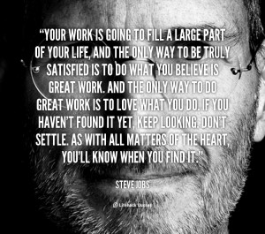 Motivational Quotes For Work Quote-steve-jobs-your-work-is-