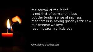 short comfort prayer death child