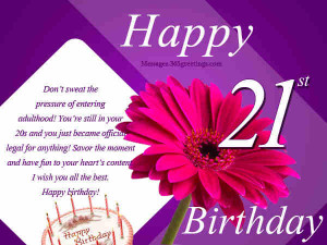 21st Birthday Wishes 01