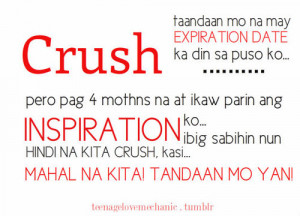 dear crush quotes tagalog quotesgram