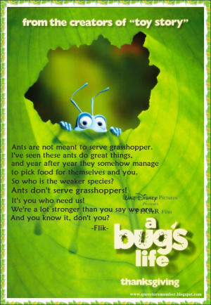 Quote to Remember: A BUG 'S LIFE [1998]